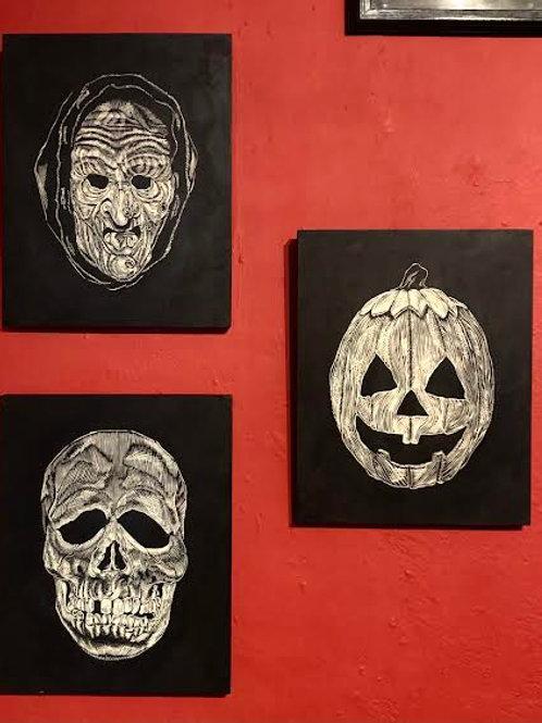 "Marissa Suto ""Season of the Witch"" Triptych"