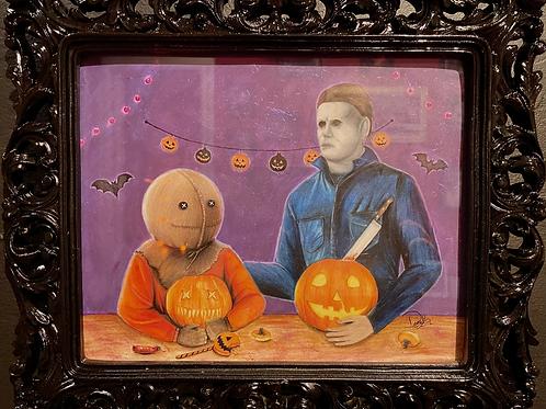 "Destiny Kelly ""Pumpkin Carving"""
