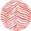 Thumbnail: Classic Button Down Shirt Coral Zebra
