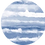 Thumbnail: Crew Neck Dress Blue Waves Print
