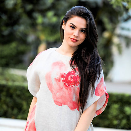 Coral Flower Loose Shirt