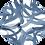 Thumbnail: Crew Neck Dress with Blue Knot Print