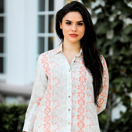 Classic Button Down Shirt Coral Snake