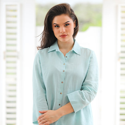 Classic Button Down Shirt Eggshell Blue