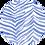 Thumbnail: Linen Scarf with Blue Zebra Print