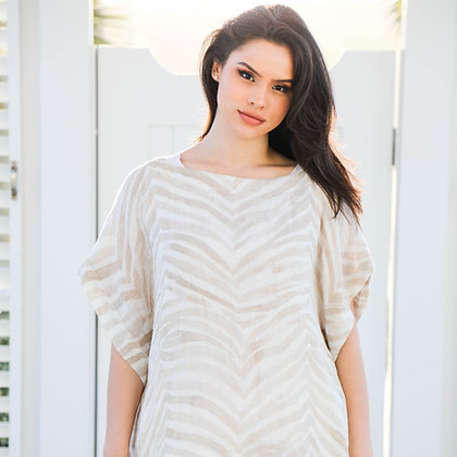 Natural Zebra Loose Shirt