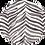 Thumbnail: Linen Lightweight Charcoal Zebra Shawl