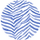 Thumbnail: Classic Button Down Shirt Blue Zebra