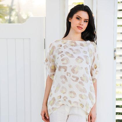 Brown Cheetah Loose Shirt