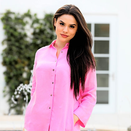 Classic Button Down Shirt Candy Pink