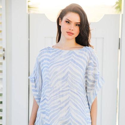 Blue Zebra Loose Shirt