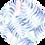 Thumbnail: Crew Neck Dress with Palm Leaf Print