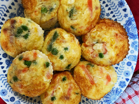 Egg, Cheese & Veggie Cakes (gluten free)