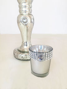 silver candle holder prop hire wedding yorkshire set the scene venue stylist