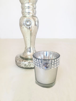 silver tealight with diamond candle holder tealight holder