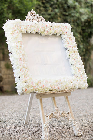 Floral table plan to hire