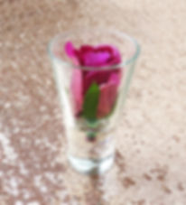 pink rose bud prop hire wedding and events