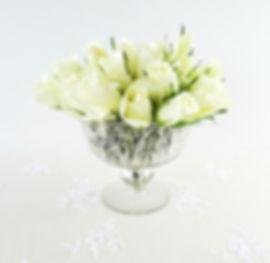 Antique mercury bowl vase silver prop hire wedding and events