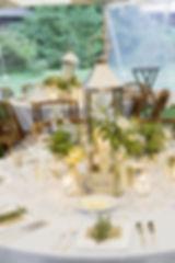 Silver chrome table lantern