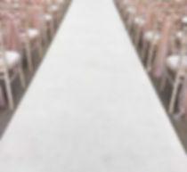 Ivory White Aisle Runner Hire Wedding 8m 12m
