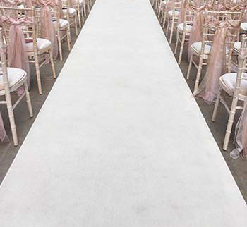 Ivory White Aisle Runner Hire Wedding 8m 12m