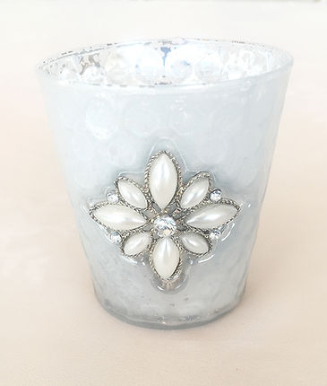 Antique flower tealight candle holder