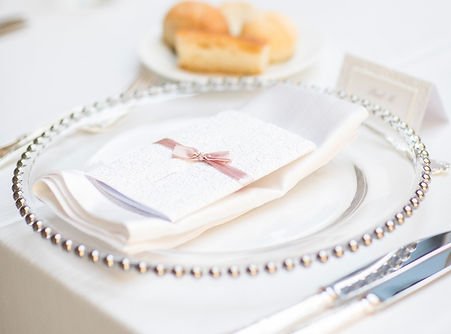 silver beaded charger plate prop hire wedding