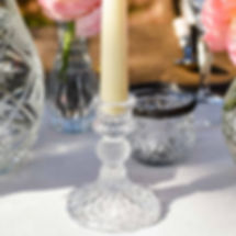 French glass candlestick hire