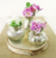antique silver bud vases prop hire wedding and events