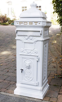 White Victorian weddng postbox