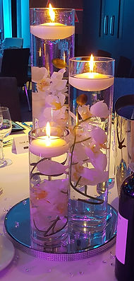 Cylinder Vase Trio Wedding Centerpiece