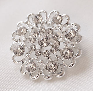 Round Diamante Brooch to Hire for weddings