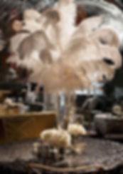Feather Centerpiece Hire