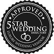 Set The Scene Is approved by 5 star wedding directory