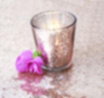 pink mercury tealight candle holder