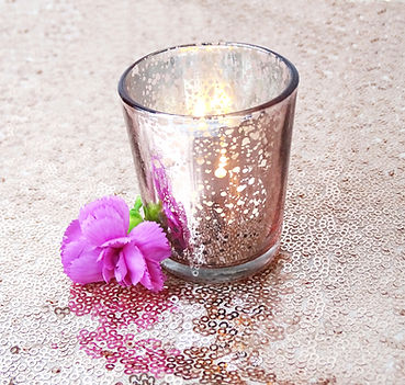 pink mercury tealight candle holder