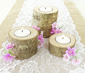 bark candle holder prop hire wedding yorkshire set the scene venue stylist