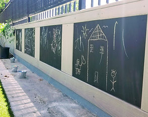 Montessori outdoor art