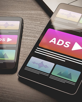 Programmatic Advertising concept. Youtube Online native targeting ads marketing strategy.