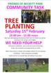 Beckett Park community task - tree planting