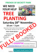 Sorry - the tree planting task is now fully booked!  We hope to have another task later this winter