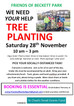 Still spaces for tree planting next Saturday