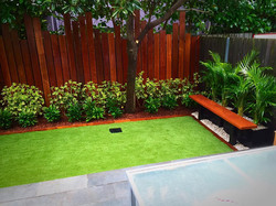 Botany screening and artificial turf
