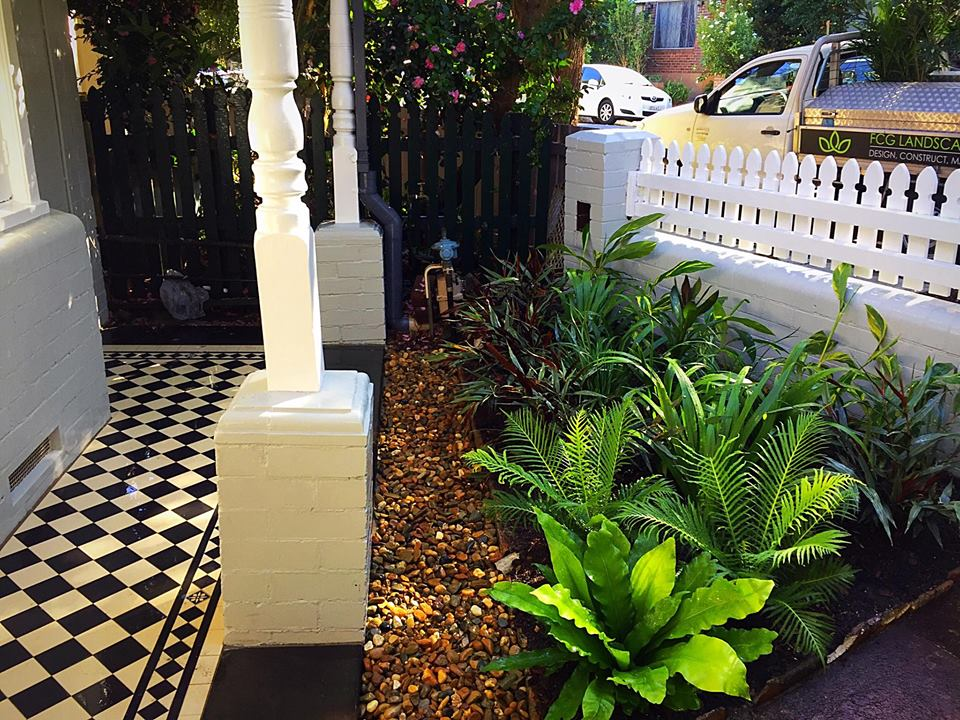 petersham tiles and plantings