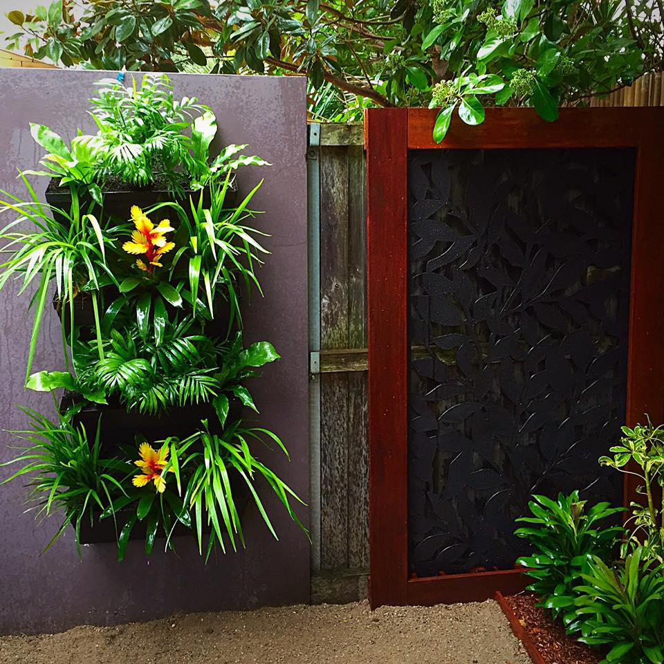 Greenwall and deco screen botany