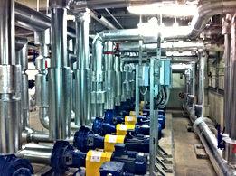 HVAC, pipework, Cladding, Lagging, sheetmetal, Plant room.