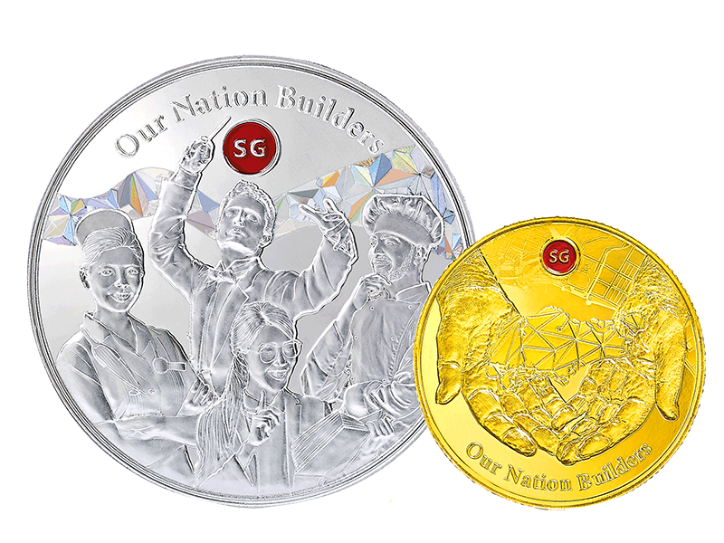 P2 Gold and Silver Coins Front
