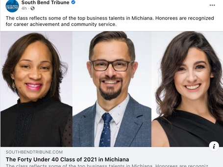 The Forty Under 40 Class of 2021 in Michiana Announced: South Bend Tribune!