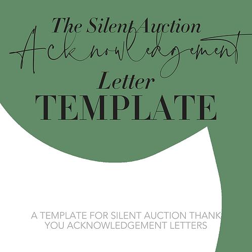 Silent Auction Acknowledgement Letter Template
