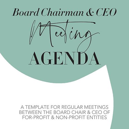 Sample Board Chair/CEO Meeting Agenda